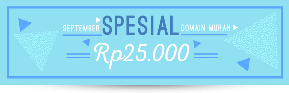 Promo Domain Murah Spesial September Rp25.000