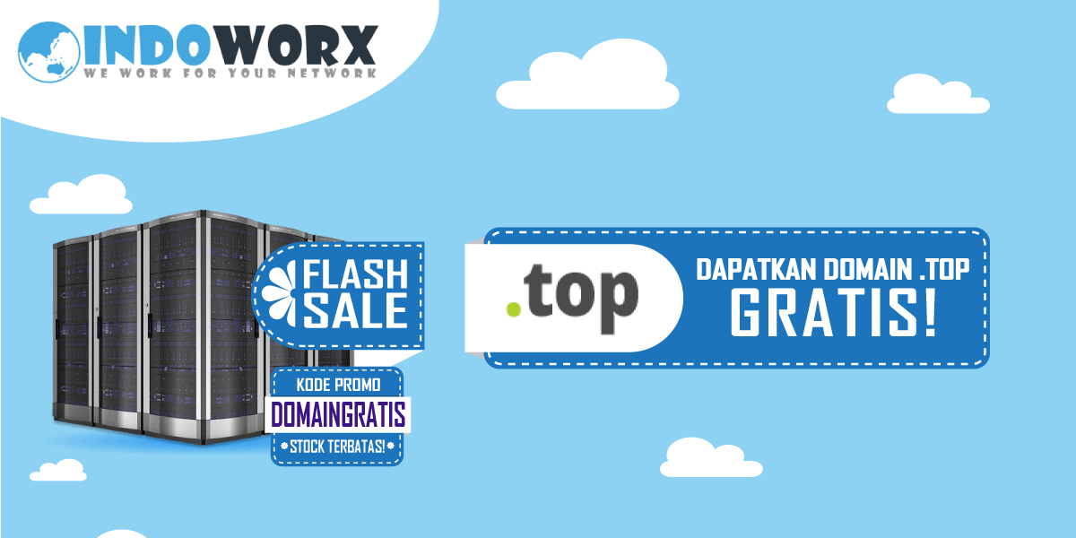 Promo Domain Gratis .TOP Stock Terbatas!
