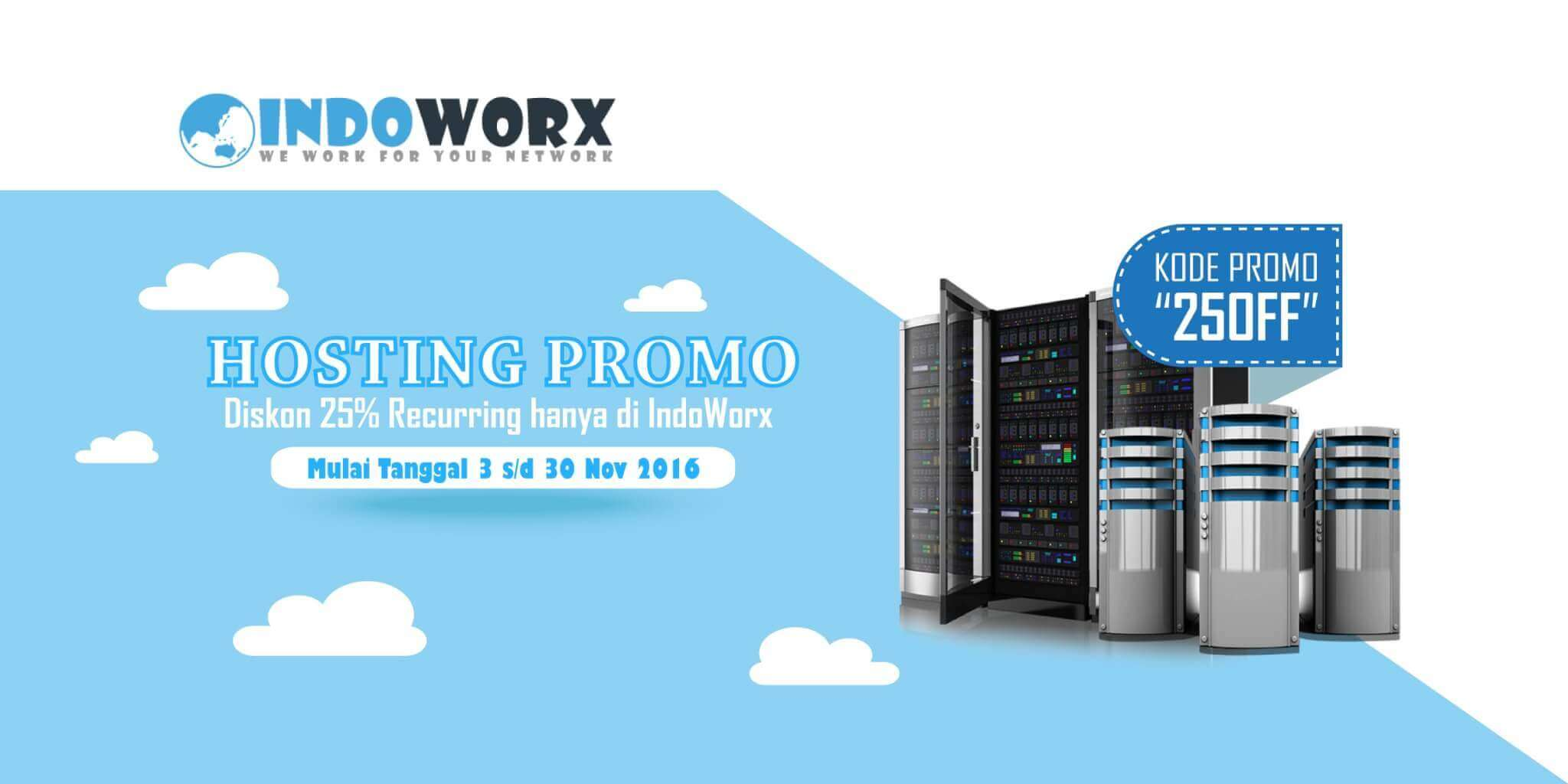Promo Hosting Diskon 25% Recurring