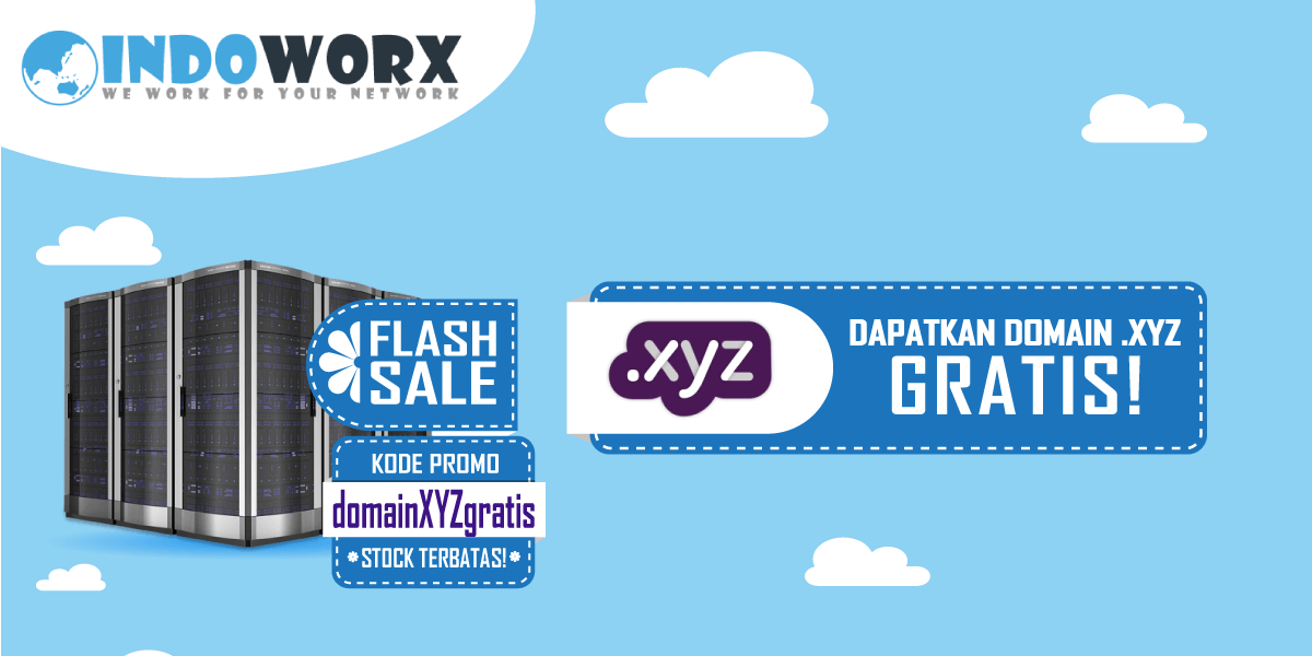 Promo Domain Gratis .XYZ Stock Terbatas!