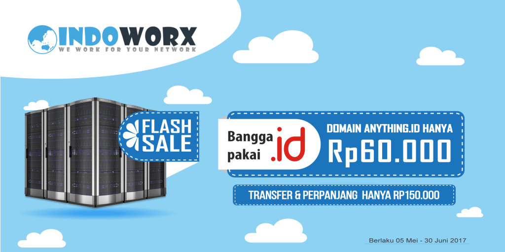 Promo Domain ANYTHING.ID Murah Mulai Rp60.000 - Indoworx