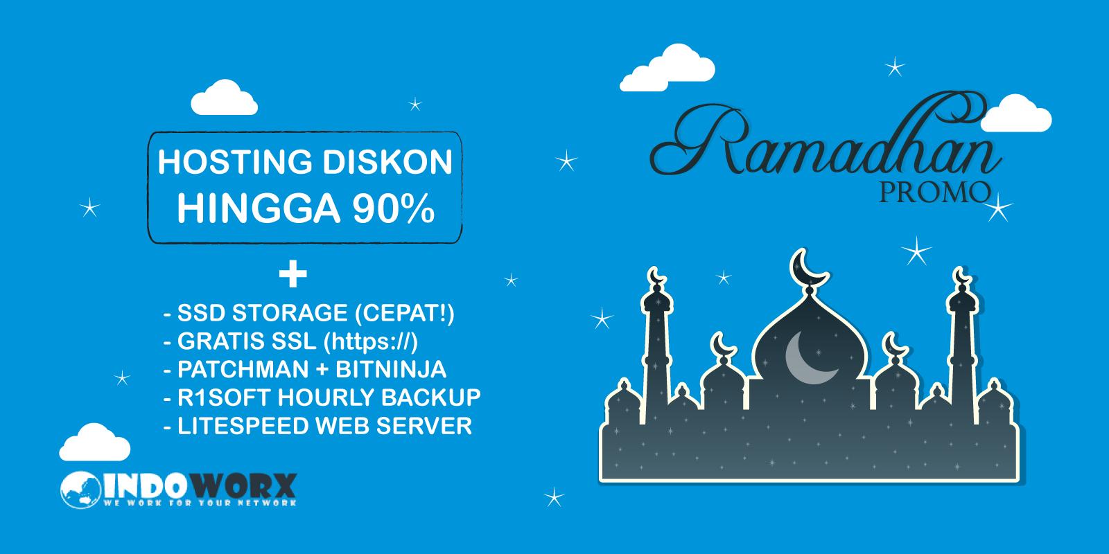 Hosting Diskon Hingga 90% di Promo Ramadhan Mulai dari Rp1.000