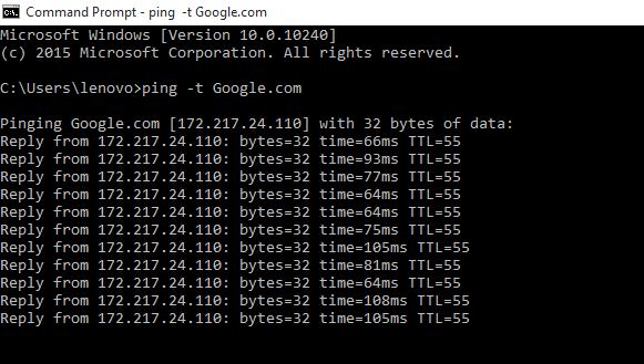 ping internet